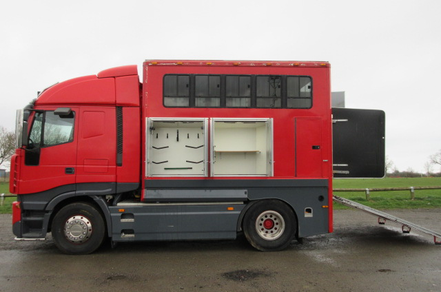 ***NEW PRICE*** 2003 Iveco Stralis Tractor unit with Demount able Emesley Metcalfe transport body.. Stalled for 4.. Unique truck