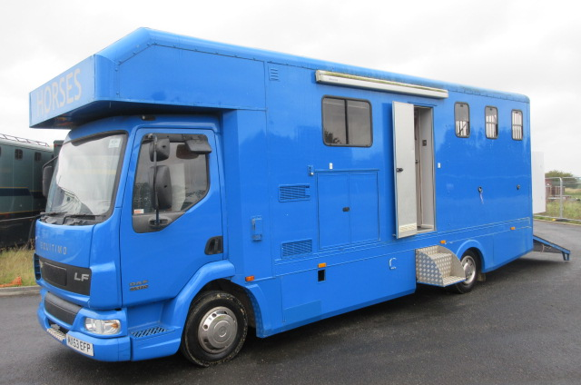 2003 Daf LF 150, Equitimo by Huish Engineering, Mounted Integrally , Stalled for 3 , Luxury Living.