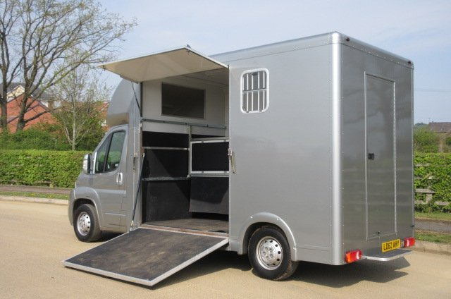 2012 Fiat Ducato Long Stall New Build. Full wall between horse area and changing area