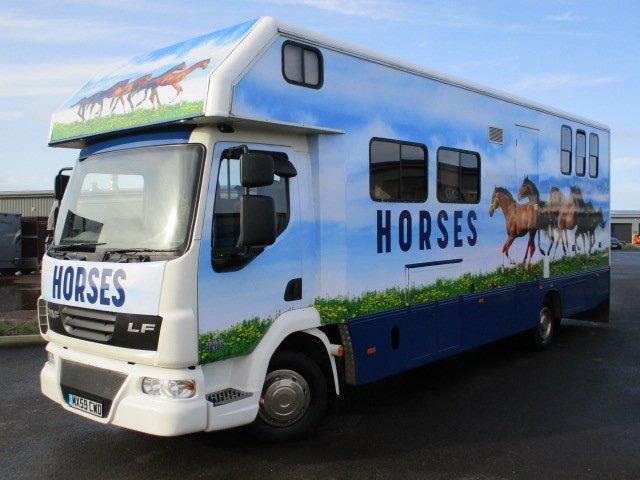 *** NEW PRICE *** 2010 DAF LF Automatic 180 12 ton Coach built by PRB Horseboxes. Stalled for 3 with smart luxury living.