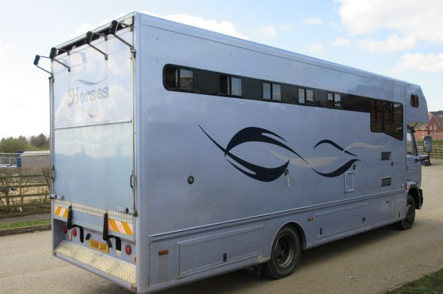 13 Ton DAF 55 Coach Built by Smart horseboxes. Stalled for 4 with smart luxury living. Stunning truck