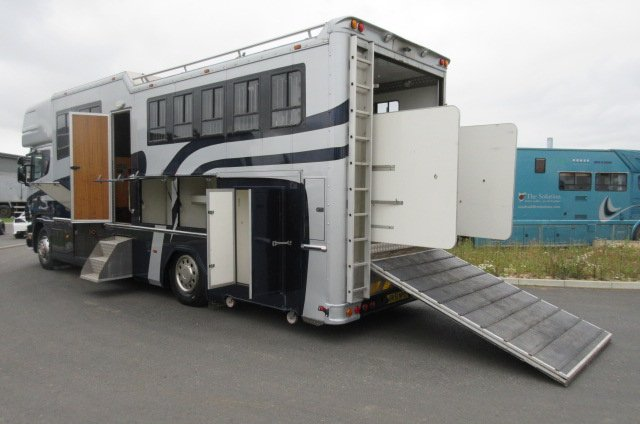 *** DEPOSIT TAKEN *** 2002 Scania Coach Built by FVM Horseboxes. Stalled for 5 with smart luxurious living.. Huge spec... Sleeps 5