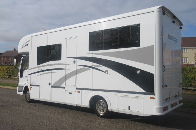 2004 Iveco Eurocargo Coach built by G.B Horseboxes, Stalled for 3 with smart luxurious living.... Full tilt cab