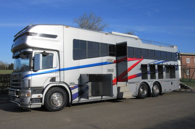 *** DEPOSIT TAKEN *** Ultimate 26.000 KG Scania 420 Coach built by Whittaker coach builders.. Stalled for 6 with sleeping for 6. Large slide out, Pop up.. Rear steer... BEAUTIFUL... Only 16,876 Miles from new!