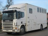 Scania 230 Warran Clarke professional horse transporter. Well built strong box. Stalled for 5 with smart living.
