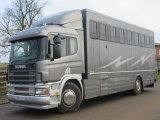 2005 Scania Professional Prater conversion horse transporter. Stalled for 7 with smart tack changing area at the front. Very smart.