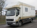 Recent coach built by Emslie Equine coach builders, built on 2012 DAF LF chassis. Stalled for 3 with smart living, External tack locker into the living not the horse area