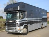 Scania 260 coach built by PRB Horseboxes, stalled for 4 with full luxury living. Beautiful HGV Horsebox