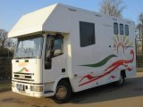 Stunning 2002 Iveco Eurocargo Coach built horsebox, Stalled for 3 with smart living. Striking looking horsebox