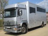 2004 Mercedes Benz 1823 Professional Prater conversion transport truck. Stalled for 7 with smart compact living with toilet and shower