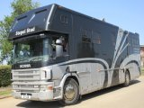 18 ton Scania 360 Coach built by Chaighley. Stalled for 6, Full living. Sleeps 5. Side and rear ramp