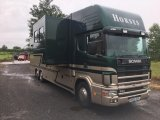 2002 Scania 26 ton Coach built by  Ketterer. Stalled for 6 with full luxury living.. Large slide out...