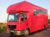 2010 59 MAN Coach built by Equine Elite coach builders. Stalled for 3 with smart living with toilet and shower..
