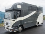 2007 MAN TG Automatic 7.5 ton Coach built horsebox. Stalled for 3 with smart living. Full tilt cab,