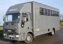 2003 12 ton  Iveco Eurocargo Tector. Professional David Murray transport truck. Stalled for 6 with tack area